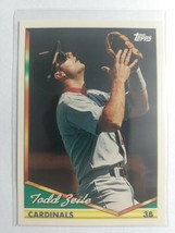 TOPPS1994CARD#25TODD ZEILE - $0.99