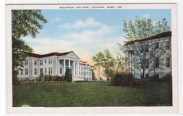 Belhaven College Jackson Mississippi linen postcard - $5.94