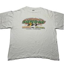 Vintage 90s Tultex Men's XL Championship Sunday Denver Vs Atlanta T Shir... - £14.34 GBP