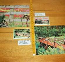 2 Jigsaw Puzzles 1000 Pcs Total Redwood State Park CA Tulip Festival Com... - $10.88