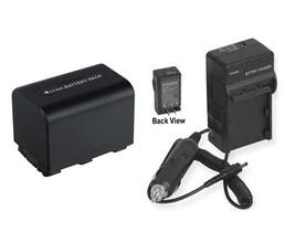 Battery + Charger for Sony DCRSR60E DCRSR62 DCRSR62E DCRSR82E DCRSR85 DCRSR85E - $26.42
