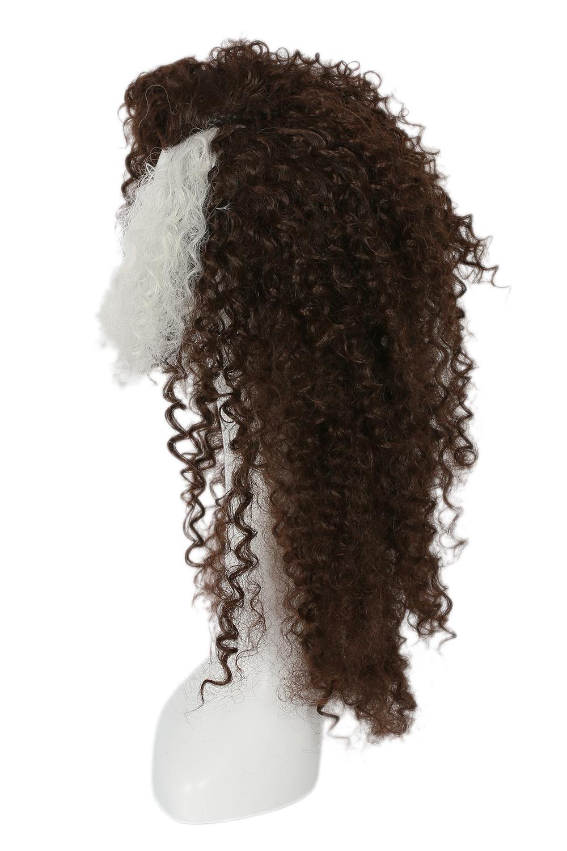 Cosplay Wigs Harry Potter Bellatrix Brown Style Fluffy Wavy Curly Women Hair