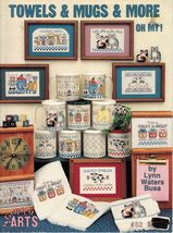Cross Stitch Towels Mugs Frames Pillow Clock Cats Baby Noah's Ark PATTERN - $10.99