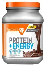 TRUSOURCE 15G PROTEIN ENERGY POWDER SUPPLEMENT CHOCOLATE MOCHA 75 MG Caf... - $18.70