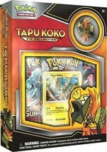 Tapu Koko Pin Collection Box Pokemon TCG Trading Cards 3 Booster Packs S... - $13.99