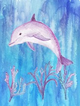 Dolphin Made To Order One Of A Kind Microfleece Blanket - $35.00