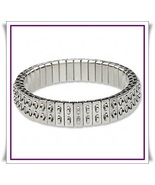 5 Stainless Steel CHA-CHA Expansion Bracelets dbl row - $19.27