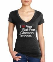 I Love You But I've Chosen Trance Black V-Neck Size: L