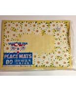 Placemats Paper Valcour  Yellow White Daisy Design 56 Vintage Retro 14X1... - $15.79