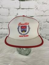 Beautiful British Columbia Trucker Hat Cap White Mesh Snapback Vintage - $29.69