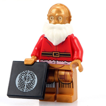 C-3PO Santa Droid Christmas Star Wars Minifigures Custom Minifig Buildin... - $3.59