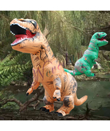 Adults Inflatable Dinosaur T-REX Costume Child Jurassic Halloween Blowup... - £50.57 GBP