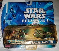 Star Wars Episode l Micro Machines Pod Racer Pack lll w/High Speed Wheels [New] - $12.82