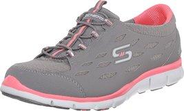 SKECHERS Women's Gratis - Full-Circle Gray Pink Sneaker 10 B (M) - $64.99