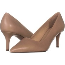 Franco Sarto Tudor Pointed Toe Pumps 695, Light Mocha Leather, 7 W US - $23.03