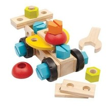 Recycled Wood 40-Piece Construction Playset with 2-in-1 Wrench and Screw... - $45.79