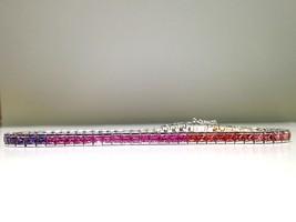 5.00 Carat Rainbow Sapphire Bracelet in 925 Sterling Silver