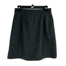 J. Crew Women's Dark Gray 100% Wool A-Line Mini Skirt Size 2 - $14.85