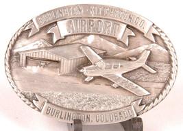Burlington Kit Carson CO AIRPORT Belt Buckle-1984-Limited Edition 267 of... - $33.65