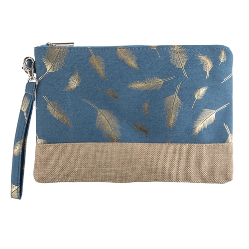 Primary image for Feather printed wristlet bag
