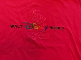 "Walt Disney World Pink ""Mickey"" 100% Cotton M Tee Shirt - $6.77"