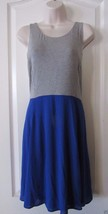 APT. 9 Crazy Cobalt Blue MIXED MEDIA FIT & FLARE DRESS WOMEN'S Sz. M  MS... - $29.35