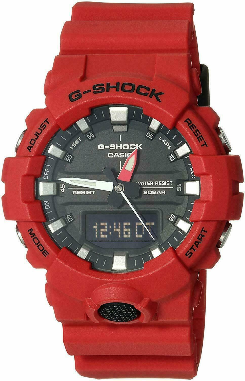 Casio G-Shock Men's Red Analog-Digital Watch GA800-4A