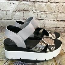 Franco Sarto Womens Snake Print Open Toe Platform Sandals Size 8 M - $32.34