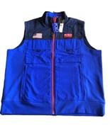 Polo Ralph Lauren Hi-Tech Hybrid Vest Jacket Blue Stadium American Flag Mens XL - $156.80
