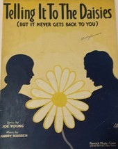 VINTAGE Sheet Music Telling It To The Daisies 1930 Joe Young and Harry W... - $18.50