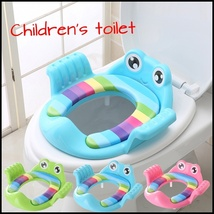 Baby Toilet Trainer Cute Cartoons Safe Handles Kids Toddler Potty Chair ... - $29.90