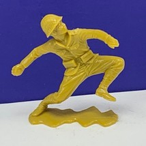 Marx toy soldier Japanese vintage ww2 wwii Pacific 1963 gold figure gren... - $17.77