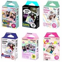Glass Comic Stripe Airmail Shiny Star Candy FujiFilm Instax Mini Film 60... - $51.99