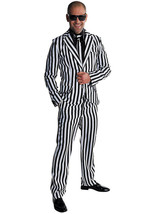 Mr Beetlejuice  - 1980's Suit + Tie , XS - XXL - $50.57