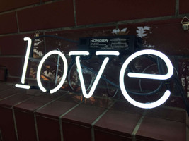 "Handmade 'Love' Wedding Art Light Banner Room Decor Neon Sign 13""x6"" - $59.00"