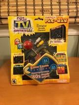 Pac Man Plug N Play TV Video Joystick Games Namco 5-In-1 Jakks Pacific S... - $44.99