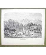 AFRICA Niger Valley of Auderas Air Mountains - 1858 Engraving Print - $9.57