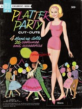 VINTAGE UNCUT 1961 PLATTER PARTY PAPER DOLLS~#1 REPRODUCTION~FABULOUS RA... - $19.99