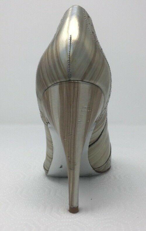 Jessica Simpson NICHOLA Metallic Booties heels Iridescent Patent leather 8.5 image 7