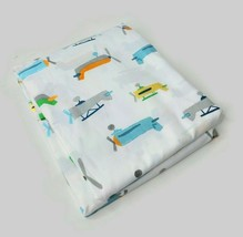 Pottery Barn Kids Asher Airplane Queen Size Flat Sheet White - New - $39.59