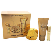 Paco Rabanne Lady Million 2.7 Oz Eau De Parfum Spray 3 Pcs Gift Set image 1
