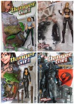 Danger Girl Ultra-Action Figure Set of 4 From McFaralne Toys - $167.44