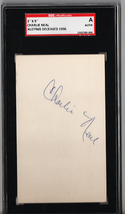 Charlie Neal 3x5 Index Card Autograph SGC Authentic P538 - $18.31