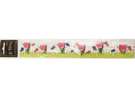 The Paper Studio Tulips 3-D Border Sticker #638932 for Scrapbooking, Cards