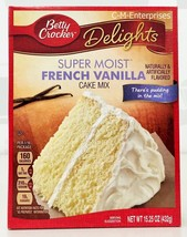 Betty Crocker Delights Super Moist French Vanilla Cake Mix 15.25 oz - $4.19