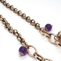 Necklace Silver 925, Pink, Amatista Purple, Hot Chilli Domed Hanging image 5