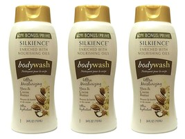 3Pks FAMILY SIZE Silkieince ULTRA Moisturizing Body Wash w/ Shea Butter ... - $23.75