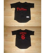 Youth Philadelphia Phillies Ryan Howard S (8) Majestic (Black) Jersey - $14.01