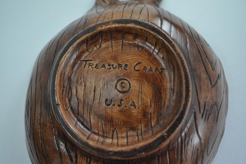 Treasure Craft USA Earthenware Orange Brown Wood look bowls