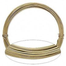 ALUMINUM CRAFT Jewelry WIRE 14ga GOLD 50 ft ~ 18 Gauge ~ Light + Flexible - $8.85